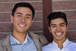 Anthony Abril and Raj Bhargava, UC Berkeley undergraduates, played a key role in shaping the campus's agreement with Bank of the West.