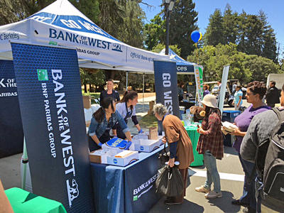 Bank of the West tabling at Summerfest
