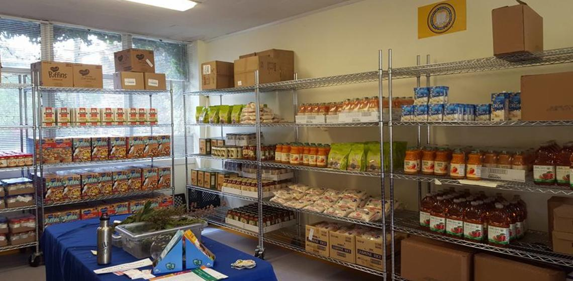 Food Pantry fully stocked