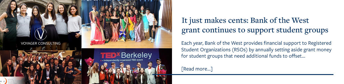 It just makes cents: Bank of the West  grant continues to support student groups