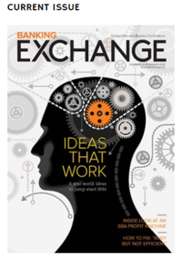Banking Exchange Magazine Cover, December 2015 Issue.