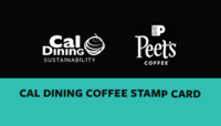 Cal Dining Coffee Stamp Card in partnership with Peet's Coffee