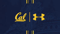 Cal logo with Under Armour logo featuring new Sather Stripe