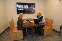 Berkeley employee consulting with a branch specialist