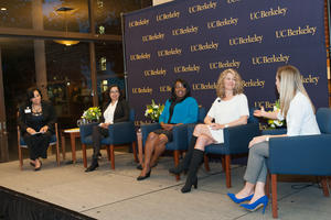 Cloey Hewlett moderates the CAA Alumnae Career Advancement Panel